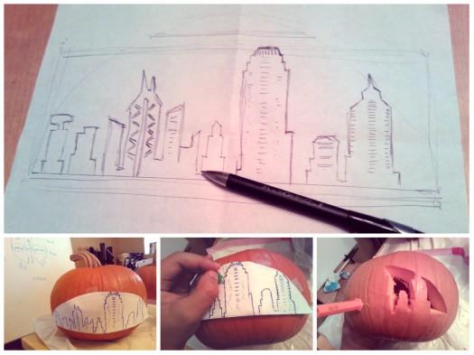 pumpkin hong kong skyline
